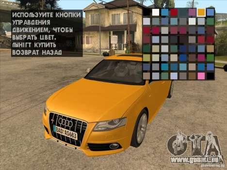 Mécanique d'accordage n'importe où pour GTA San Andreas deuxième écran