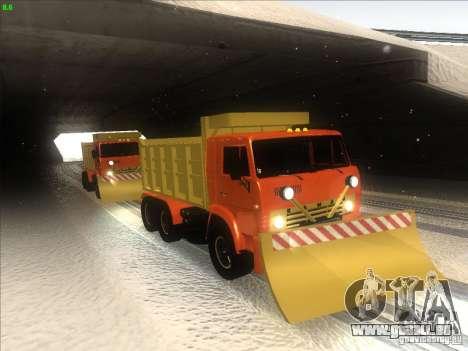 KAMAZ 5410 pour GTA San Andreas vue intérieure