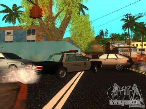 Dodge Diplomat 1985 LAPD Police pour GTA San Andreas laissé vue