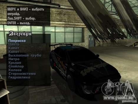 Mitsubishi Lancer Evolution X Drift Spec für GTA San Andreas obere Ansicht