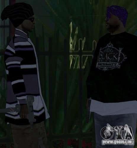 Bandes de remplacement, tatouages, vêtements, et pour GTA San Andreas quatrième écran