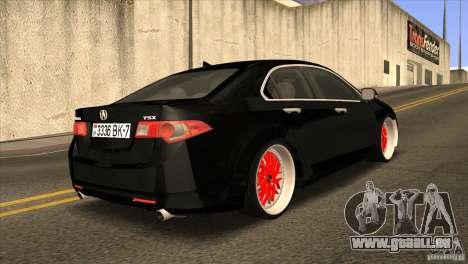Acura TSX Doxy pour GTA San Andreas vue de droite