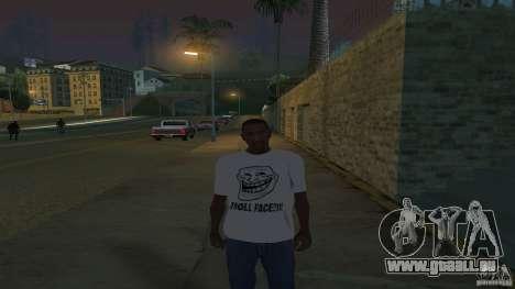 T-Shirt ist ein Troll-Gesicht für GTA San Andreas