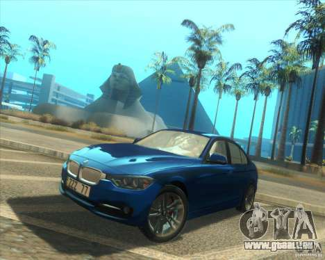BMW 3 Series F30 2012 pour GTA San Andreas