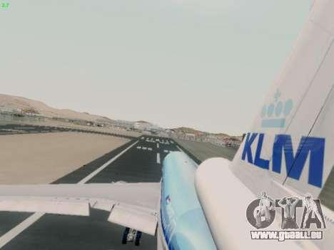 McDonell Douglas DC-10-30 KLM Royal Dutch pour GTA San Andreas vue intérieure
