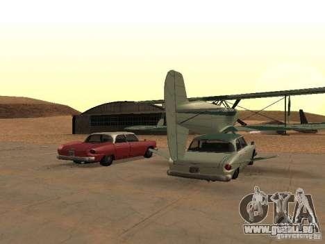 Voiture-avion pour GTA San Andreas sur la vue arrière gauche