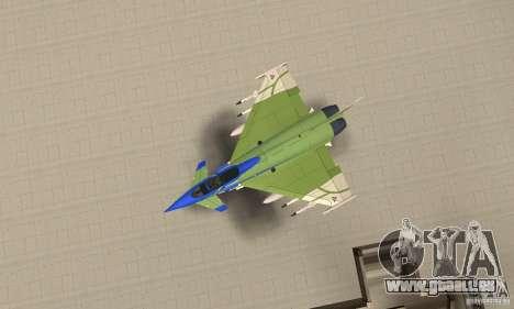 Eurofighter 2010 pour GTA San Andreas vue de droite