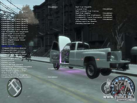 Dodge Ram 3500 pour GTA 4 vue de dessus