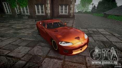 Dodge Viper 1996 für GTA 4 Rückansicht