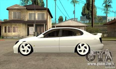 Lexus GS300 V 2003 pour GTA San Andreas sur la vue arrière gauche