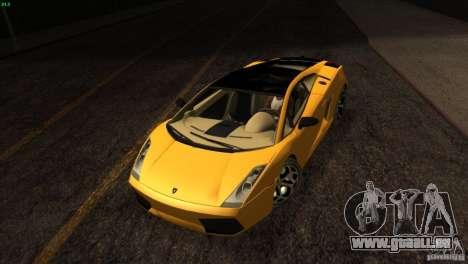 Lamborghini Gallardo SE pour GTA San Andreas vue de dessus