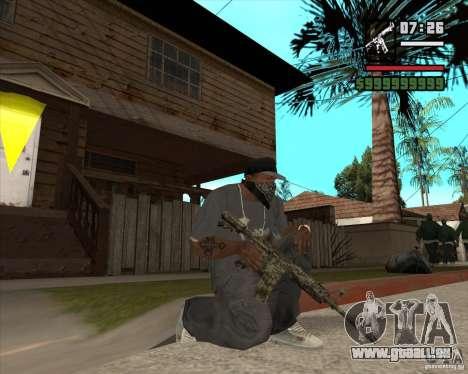 M4A1 Camo pour GTA San Andreas troisième écran