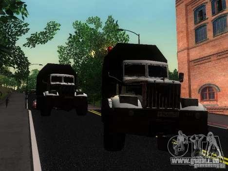 KrAZ-254 für GTA San Andreas Innenansicht
