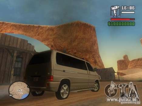 Volkswagen Multivan pour GTA San Andreas sur la vue arrière gauche