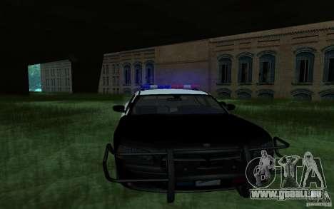 Dodge Charger Police pour GTA San Andreas sur la vue arrière gauche