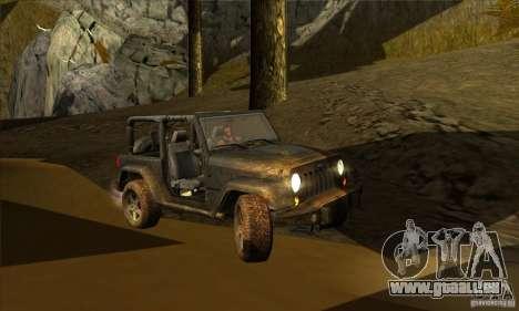 Jeep Wrangler pour GTA San Andreas vue intérieure
