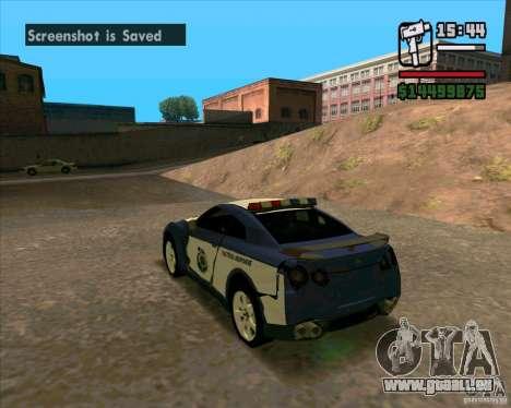 Nissan GTR35 Police Undercover für GTA San Andreas rechten Ansicht