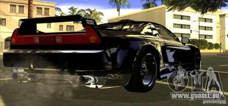 Acura NSX Tuned pour GTA San Andreas vue arrière