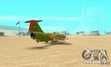 F-104 Starfighter Super (vert) pour GTA San Andreas laissé vue