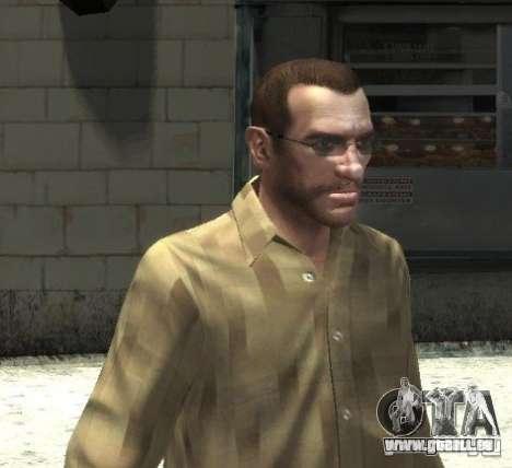 Nouvelles lunettes pour Niko-lumineux pour GTA 4 troisième écran