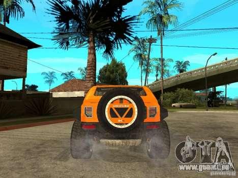 Hummer HX Concept from DiRT 2 pour GTA San Andreas sur la vue arrière gauche