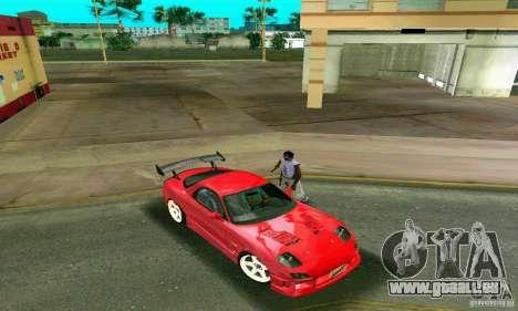 Mazda RX7 Charge-Speed pour une vue GTA Vice City de l'intérieur