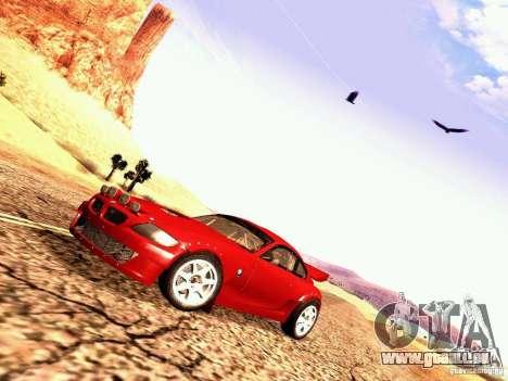 BMW Z4 Rally Cross pour GTA San Andreas sur la vue arrière gauche