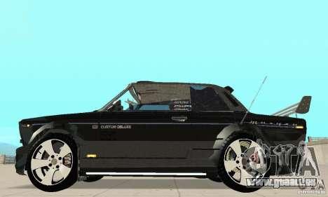 Tunning de VAZ 2106 Fantasy ART pour GTA San Andreas sur la vue arrière gauche