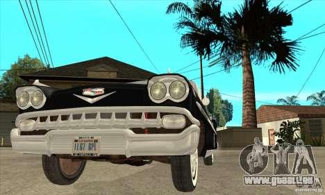 Chevrolet Impala 1958 pour GTA San Andreas vue de dessus