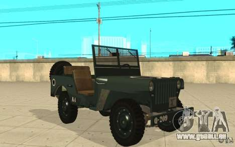 Willys MB für GTA San Andreas