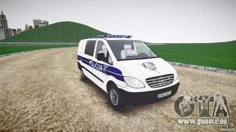 Mercedes Benz Viano Croatian police [ELS] pour GTA 4 Vue arrière