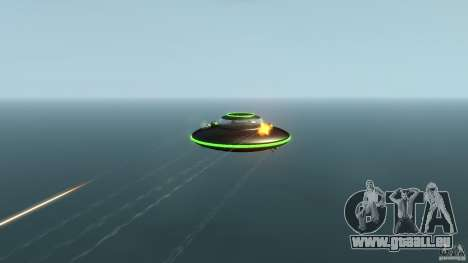 UFO neon ufo green für GTA 4 Rückansicht