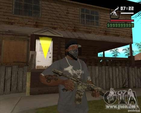 M4A1 Camo pour GTA San Andreas deuxième écran