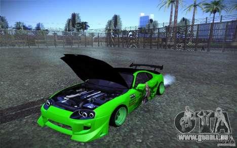 Toyota Supra Tuned pour GTA San Andreas vue de côté