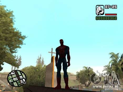 Spider Man From Movie pour GTA San Andreas cinquième écran