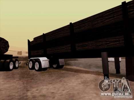 Kenworth K100 Aerodyne-trailer für GTA San Andreas zurück linke Ansicht