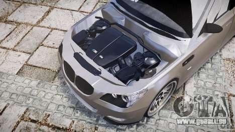 BMW E60 M5 2006 für GTA 4 Rückansicht