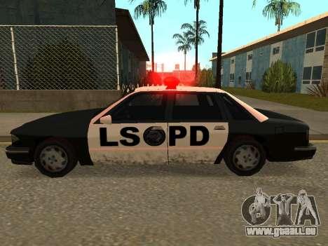 Police Los Santos für GTA San Andreas linke Ansicht