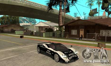 Pagani Zonda F Speed Enforcer BETA pour GTA San Andreas vue arrière