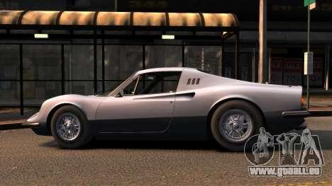 Ferrari Dino 246 GTS 1972 pour GTA 4 est une gauche