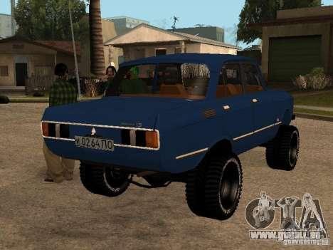 Moskvich 412-4 x 4 für GTA San Andreas zurück linke Ansicht