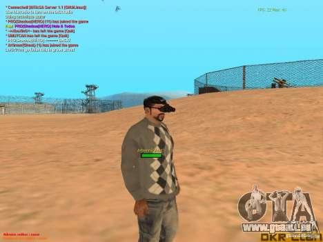 NV Goggles pour GTA San Andreas cinquième écran