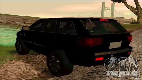 Dodge Durango 2012 pour GTA San Andreas vue de droite