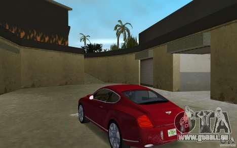 Bentley Continental GT (Final) pour GTA Vice City sur la vue arrière gauche