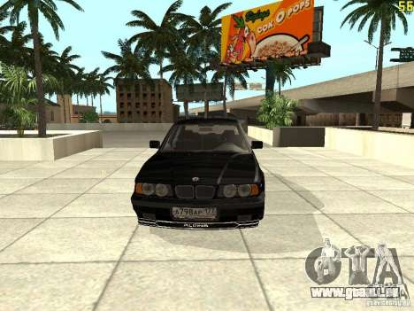 BMW E34 Alpina B10 Bi-Turbo pour GTA San Andreas laissé vue