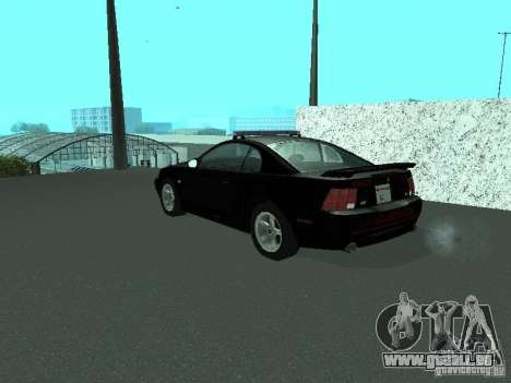 Ford Mustang GT Police für GTA San Andreas linke Ansicht