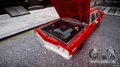 Dodge Monaco 1974 stok rims pour GTA 4 vue de dessus