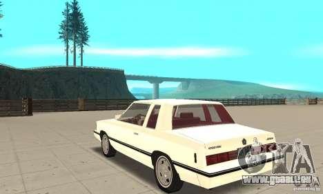 Dodge Aries 1983 pour GTA San Andreas sur la vue arrière gauche