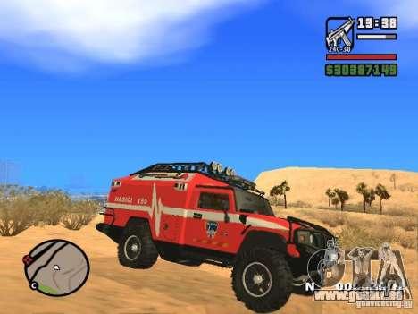 HZS Hummer H2 pour GTA San Andreas laissé vue