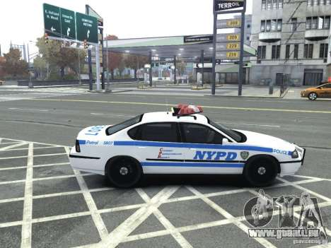 Chevrolet Impala NYCPD POLICE 2003 für GTA 4 rechte Ansicht